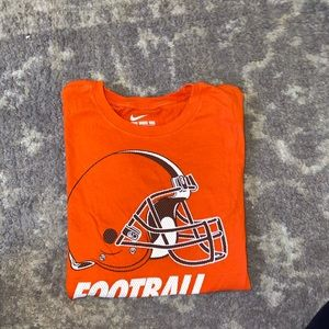 women's nike medium orange browns football tee